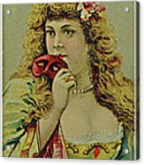 Vintage Tobacco Or Cigarette Card Acrylic Print
