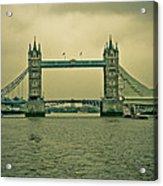 Vintage Tower Bridge Acrylic Print