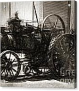 Vintage Tractor Drawing In Industrialised 1900s Acrylic Print