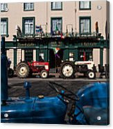 Vintage Tractors Lined Acrylic Print