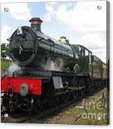 Vintage Train Black Steam Engine Acrylic Print