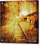 Vintage  Railway Portland Pa Usa Acrylic Print