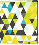 Vintage Triangle Pattern.geometric Acrylic Print