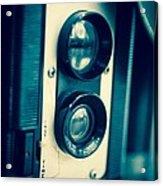 Vintage Twin Lens Reflex Camera Acrylic Print by Edward Fielding