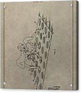 Vintage Twister Game Patent Acrylic Print