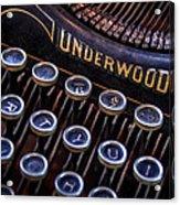 Vintage Typewriter 2 Acrylic Print