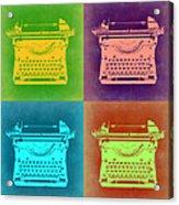 Vintage Typewriter Pop Art 1 Acrylic Print