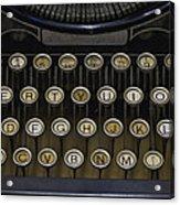 Vintage Typology Acrylic Print by Heather Applegate