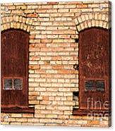 Vintage Urban Brick Building - Salt Lake City Acrylic Print
