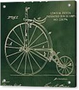 Vintage Velocipede Patent Acrylic Print