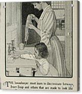 Vintage Victorian Soap Advert Acrylic Print