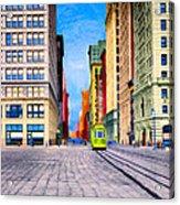 Vintage View Of New York City - Union Square Acrylic Print