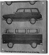 Vintage Volkswagen Ad 1971 Acrylic Print