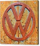 Vintage Volkswagen Bus Logo Acrylic Print