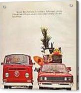Vintage Volkswagen Camper Van  Acrylic Print