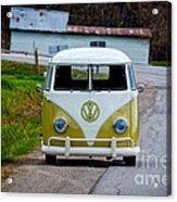 Vintage Volkswagen Bus Acrylic Print