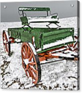 Vintage Wagon In The Snow E98 Acrylic Print