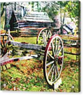 Vintage Wagon On Blue Ridge Parkway II Acrylic Print by Dan Carmichael