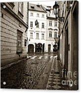 Vintage Walk In Prague Acrylic Print by John Rizzuto