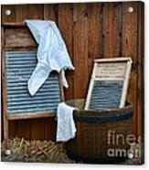 Vintage Washboard Laundry Day Acrylic Print