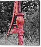 Vintage Water Pump Acrylic Print