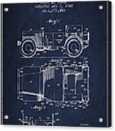 Vintage Willys Jeep Patent From 1942 Acrylic Print