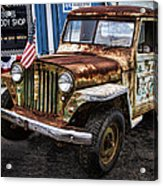 Vintage Willy's Jeep Pickup Truck Acrylic Print