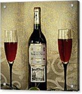 Vintage Wine Lovers Acrylic Print
