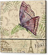 Vintage Wings-paris-i Acrylic Print