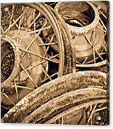 Vintage Wire Wheels Acrylic Print