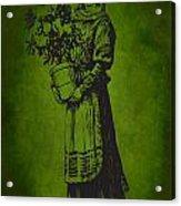 Vintage Women Color Art 13 Acrylic Print
