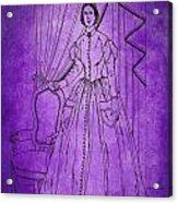 Vintage Women Color Art 16 Acrylic Print