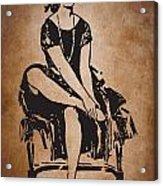 Vintage Women Color Art 63 Acrylic Print