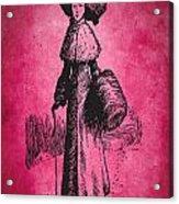 Vintage Women Color Art 72 Acrylic Print