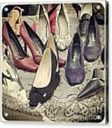 Vintage Women Shoes Acrylic Print