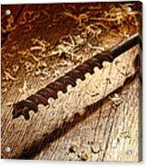 Vintage Wood Drill Acrylic Print