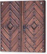 Vintage Wooden Brown Door Close-up Acrylic Print