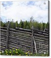 Vintage Wooden Fence Acrylic Print