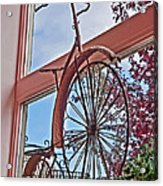 Vintage Wrought Iron Bike In Window Art Prints Acrylic Print