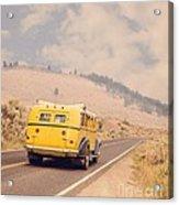 Vintage Yellowstone Bus Acrylic Print