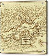 Vintage Yosemite Map 1870 Acrylic Print