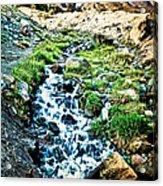 Vintaged Mount Hood Postcard Acrylic Print