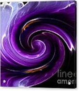 Viola Swirl Acrylic Print
