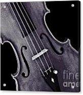 Viola Violin Photograph Strings Bridge In Sepia 3263.01 Acrylic Print