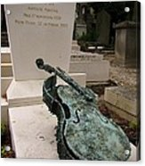 Violen Sculpture In Pere Lachaise Cemetery Acrylic Print