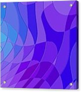 Violet Blue Abstract Acrylic Print