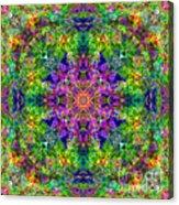 Violet Cosmos Mandala Acrylic Print