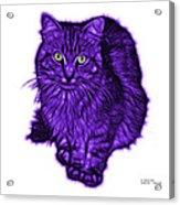 Violet Feral Cat - 9905 Fs Acrylic Print