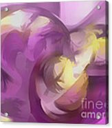 Violet Summer Pastel Abstract Acrylic Print