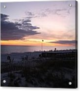 Violet Sunset Over The Sea Acrylic Print